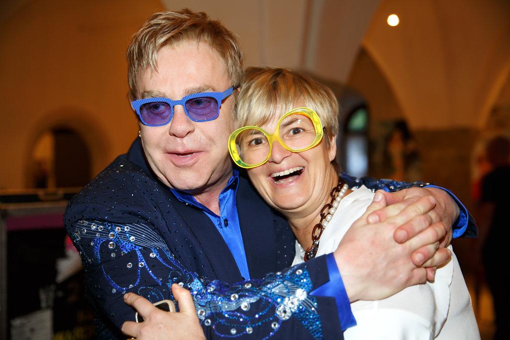 Gloria von Thurn und Taxis + Elton John